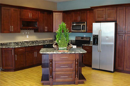 The Cherry Shaker Kitchen Cabinets Also Come With 6 Way Adjustable Hinges.  With The Full Overlay Shaker Style Doors And Rich Stain Color The Cherry  Shaker ...